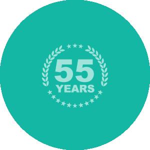 創業55年の信頼